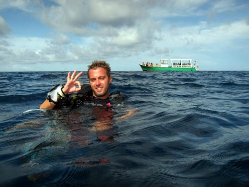 Happy Diver on Utila